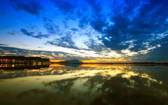 natureza, parede, сол, paisagem, lago, amanhecer, papel, imagens, bonitas,