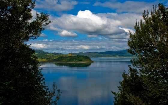озеро, rotorua, lakes, new, rotoma, zealand, остров, north,