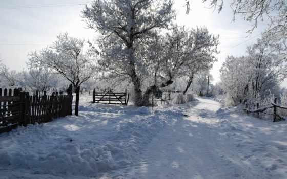 снег, winter, дорога