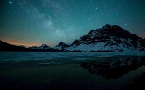 млечный, путь, windows, winter, озеро,