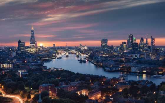 london, великобритания, мост, тауэрский, река, башня