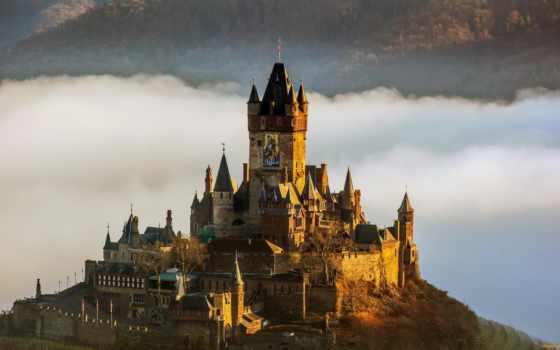castle, raihsburg, reichsburg, imperial, cochem, german, история, мозель, нойшванштайн