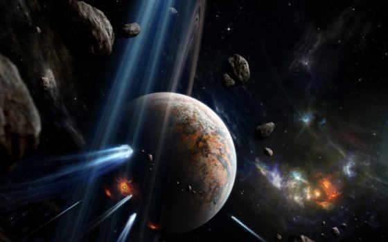 space, meteors