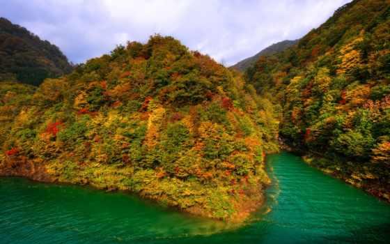 осень, япония, горы