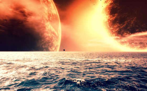 красивые, море, экран, весь, астероиды, cosmos, далекой,