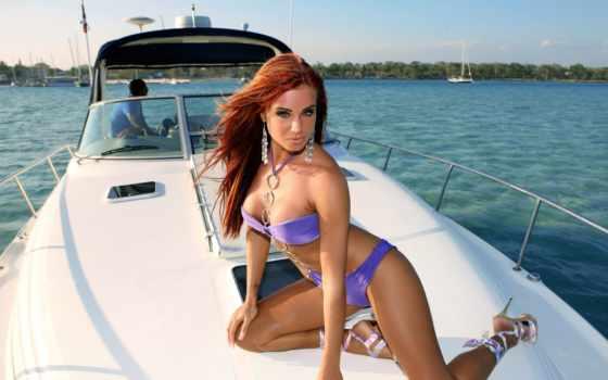 ,, купальный костюм, отпуск, лодка, лодочный, перевозка воды, sun tanning, забава, судно, девушка, bella hadid, бикини, модель,