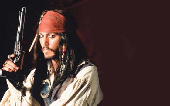 джек, воробей, джонни, моря, карибского, пираты, депп,