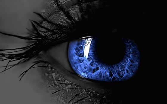 глаз, ресницы, blue