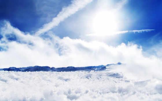 небо, sunny, природа, blue, description, первую,