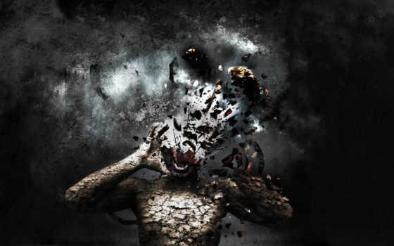 уничтожение, голова, вдребезги,