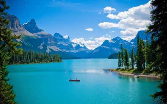 остров, дух, пазлы, озеро, самые, alcatel, фотографий, канадский, maligne, горы,