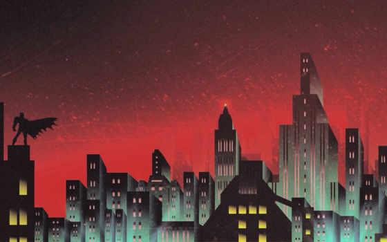gotham, skyline, batman, artwork, detroit, human, стать,