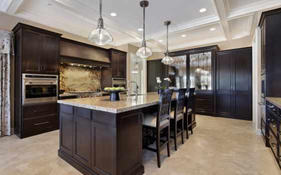kitchen, dark, cabinets