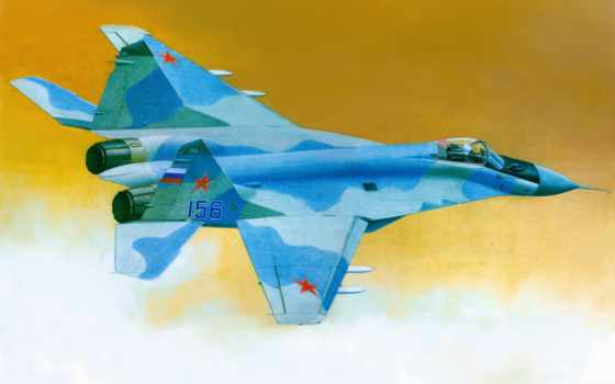 авиация, mig, рисованные, самолеты, trumpeter, fulcrum, модель,