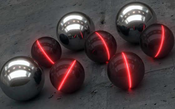 шарики, шары, industrial, свечение,