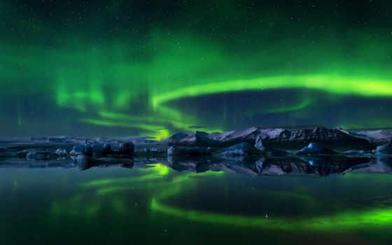 сияние, северное, winter, небо, aurora, ночь, iceland, картинка, природа, звезды, нравится,