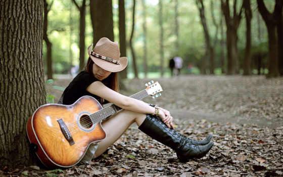 гитара, девушка, girls