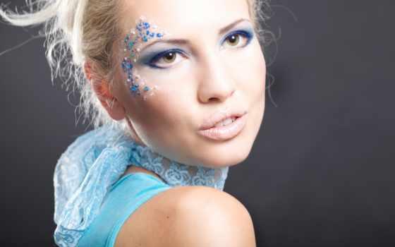 макияж, блондинок, вечер, карими, глазами, платья, глаз,