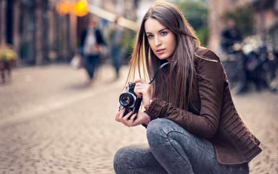 девушка, фотоаппарат, keywords