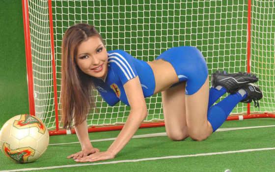 бодиарт, футбол, девушки