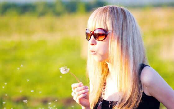 летом, блондинок, девушек
