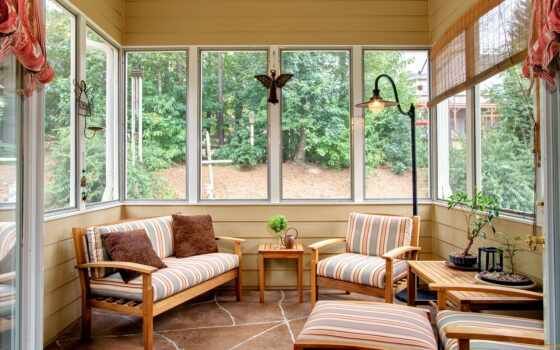 мебель, sunroom, ideas