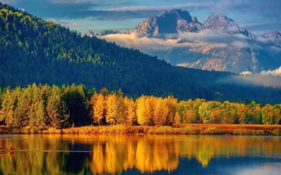 осень, пейзажи -, смотреть, осенние, горы, лес, everything, река, озеро,