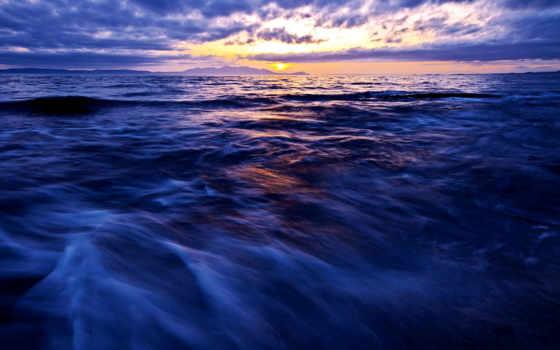 море, синее, горизонт, небо, sun, water, waves, красивый, морские, ipad, fone,