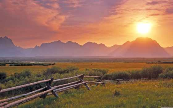красивые, природы, природа, закат, поле, большой, безумно, красиво, фотографий,