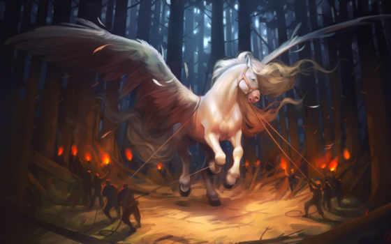 art, fantasy, пегас, лошадь, illustration, ирины, фантастика, картинка, крылья, paintings,