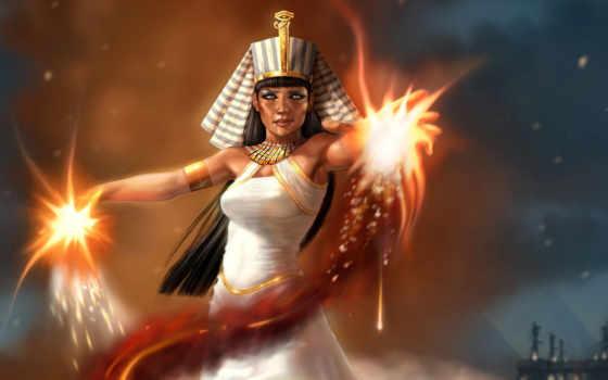 pharaoh, девушка, магия, art, клеопатра, египетский, белом, фантастика, но, когда,