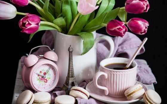 тюльпаны, часы, images, еда, macaron, pictures, zoom, бесплатные, tulips,