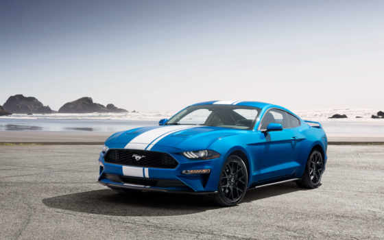 ford, mustang, ecoboost, shelby, pack, car, blue,