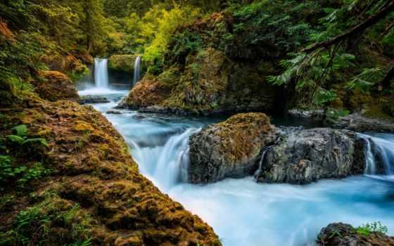 you, река, лес, дух, falls, водопад, washington, little, white