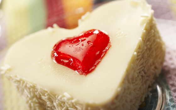 сердце, настроение, postcard, wuxga, торт