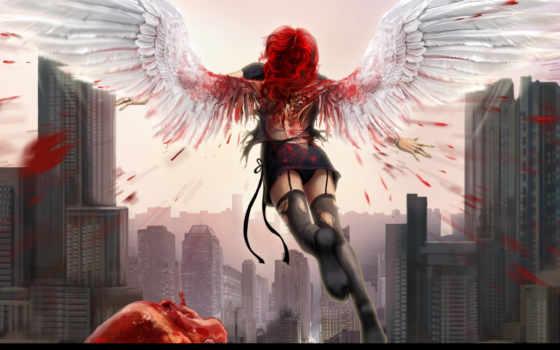 ангел, сердце
