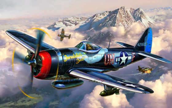 revell, thunderbolt, истребитель Фон № 88757 разрешение 5120x3200