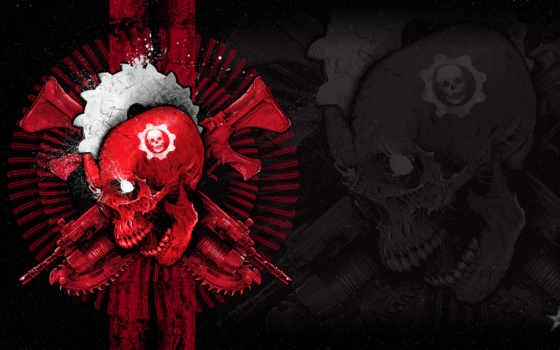 gears, war, серий, xbox, череп, эмблема, обзор, centre, нашем, coalition,