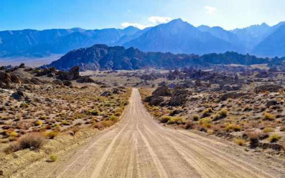 дорога, горы, prairie, небо, дымка, usa, памятник, природа, долина, горах,