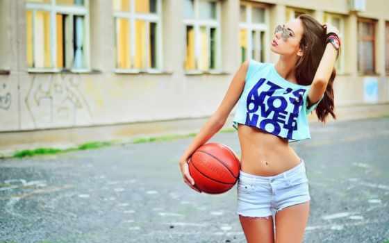 devushki, баскетбол, спортивных, модели, очках, топах, jin, трусы, women,