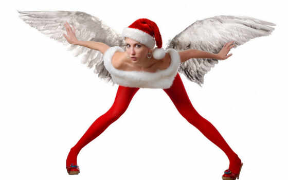 christmas, девушка, клипарт, санта, новый год, angel, sexy, цитатник, праздник, new