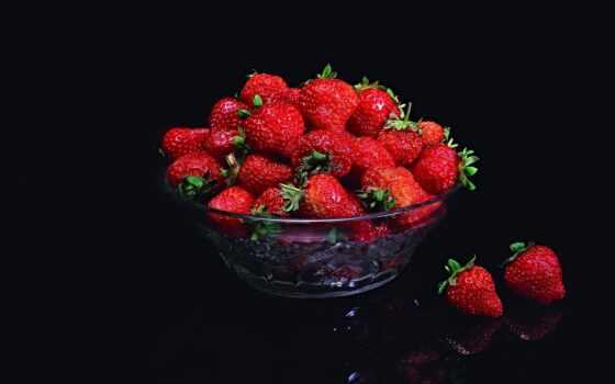 клубника, вышивка, black, схема, ягода, title, под, автор, submit