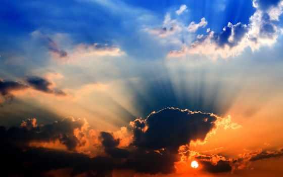 закат, красивые