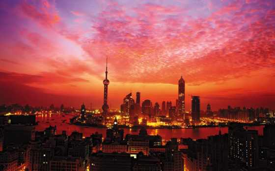 shanghai, огни