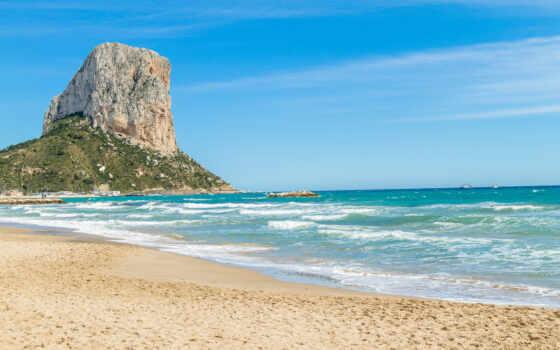 пляж, ipad, cliff