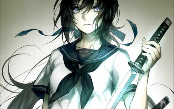 anime, art, школьница