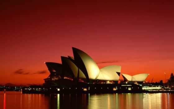 театр, оперный, sydney, австралия, театра, оперного, сиднейского,