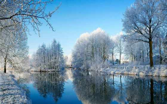 winter, природа, широкоформатные, шикарная, красивые, бесплатные, разрешением, солнечный, ночь,