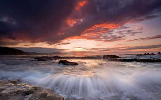 knowledge, закат, slunce, oblaka, природа, západ, море, del, небо,