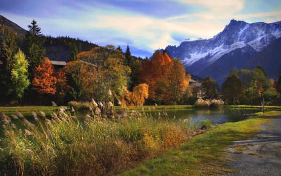 automne, paysage, fond, ecran, montagnes, paysages, images, arbres,